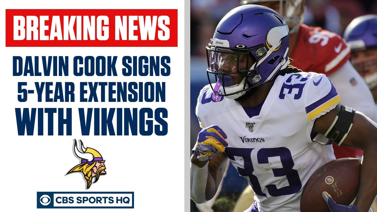 Dalvin Cook AGREES to a FIVE YEAR extension with Vikings   CBS Sports HQ