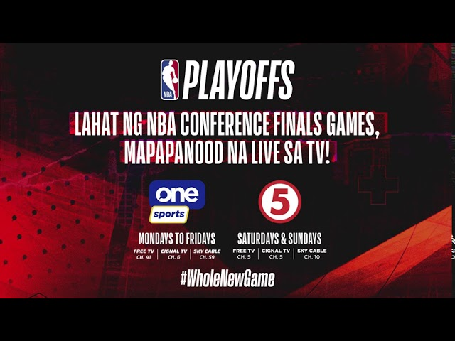 NBA Conference Finals on One Sports and TV5