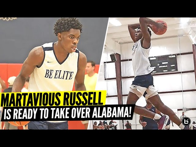 #1 2022 PLAYER IN ALABAM MARTAVIOUS RUSSELL IS READY TO TAKE OVER THIS SEASON!! FULL HIGHLIGHTS