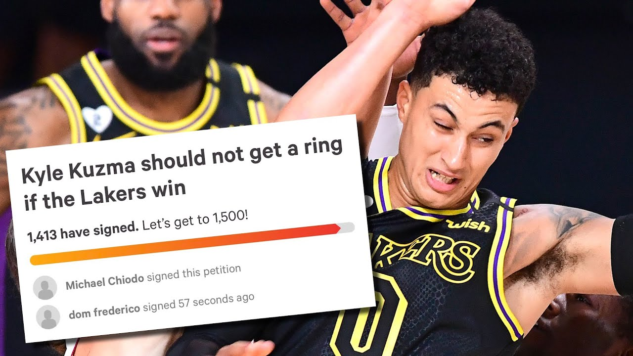 Fans Make Petition For Kyle Kuzma To NOT Receive A Ring If Lakers Win Championship | NBA FINALS 2020