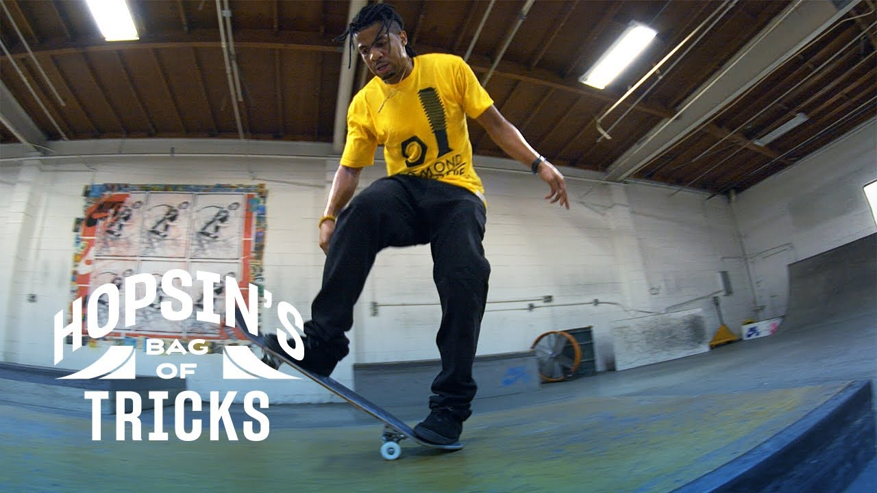 Hopsin Teams Up With Pro Skater and DJ Kevin Romar To Master a Double Kick Flip Manual