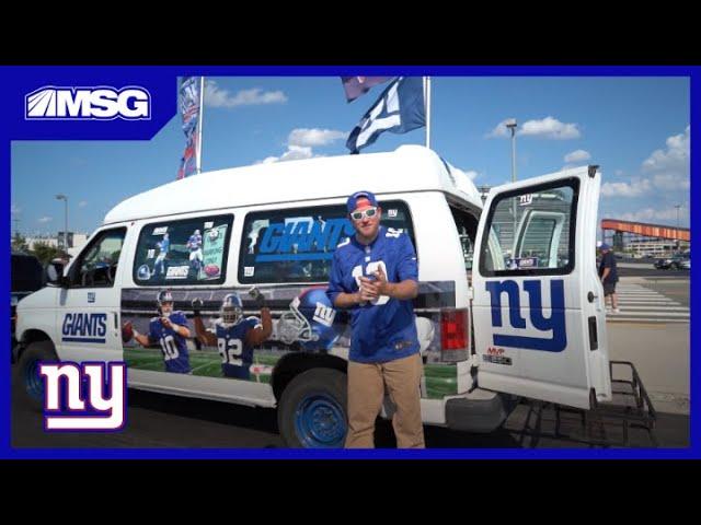 Inside New York Giants Fan Van | New York Giants