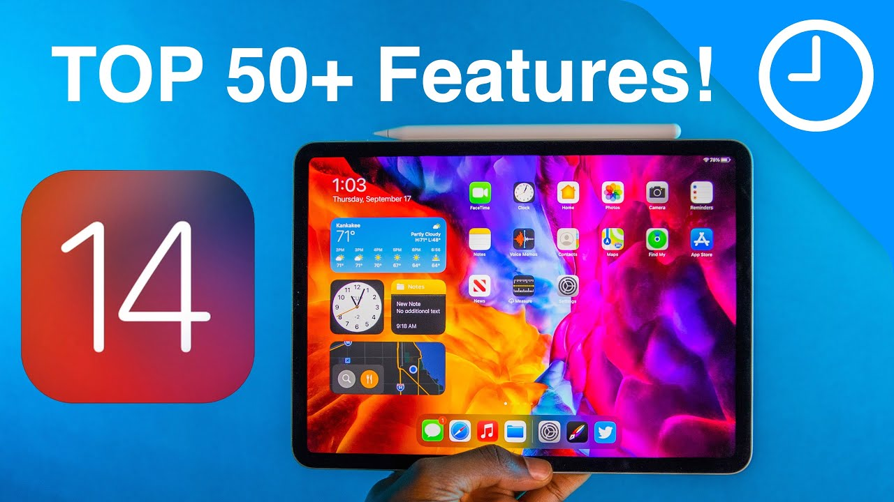 iPadOS 14 - 50+ Top Features and Changes!