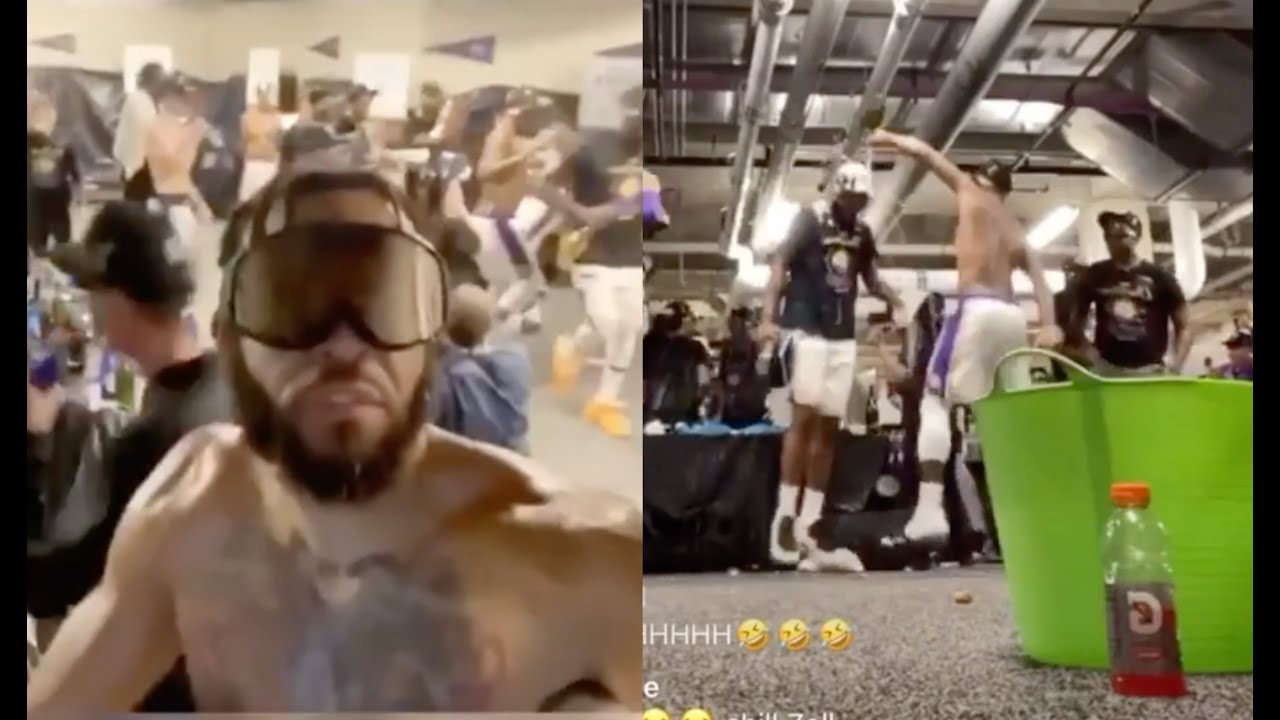 Lakers Bumping Pop Smoke And Chief Keef Faneto In Locker Room After Winning Championship
