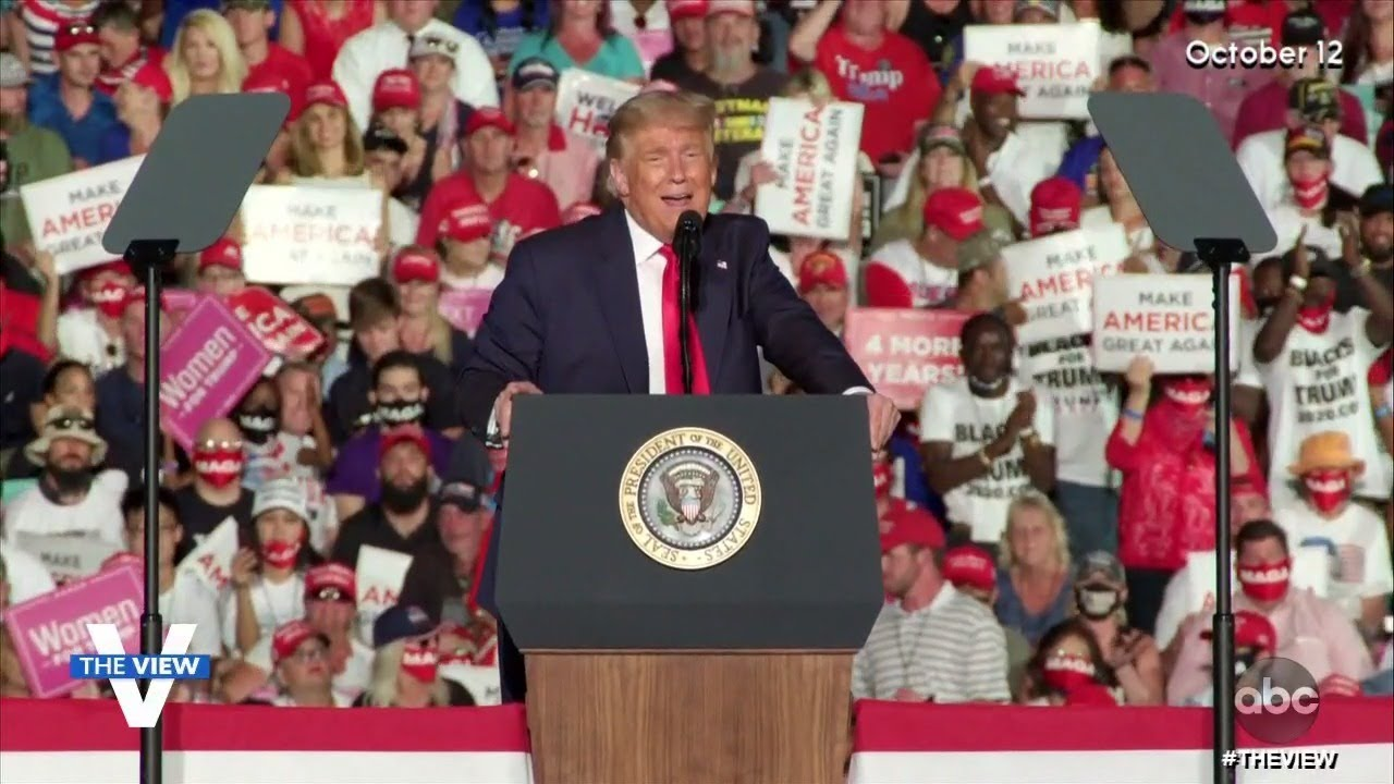 No Social Distancing At Trump Rally | The View
