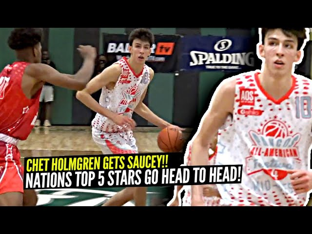 #1 Ranked Chet Holmgren Is a 7 FOOT GUARD NOW!! Nation's TOP 5 STAR PLAYERS GO AT IT!!