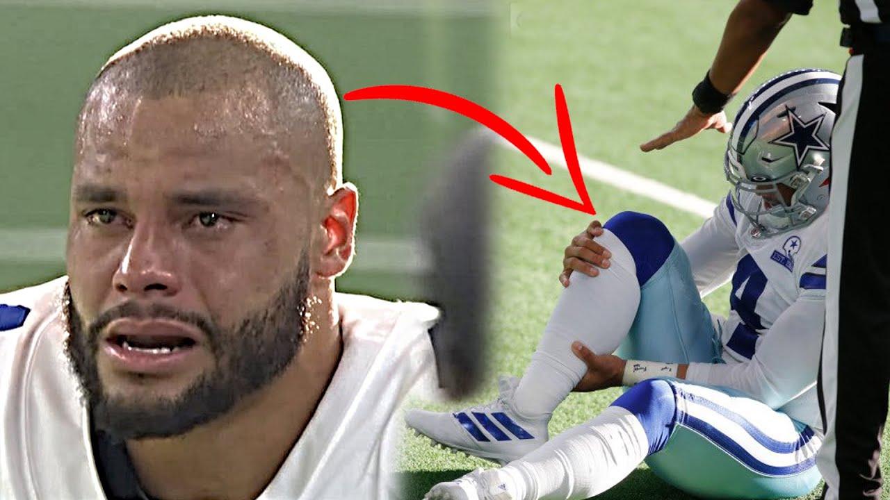 Dak Prescott Injures His Ankle vs New York Giants...