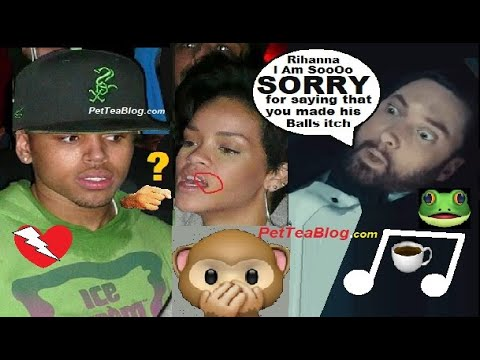 Eminem Apologizes to Rihanna for saying she gave Chris Brown Itchy Balls & Deserved to get Beat 👊☕🐸