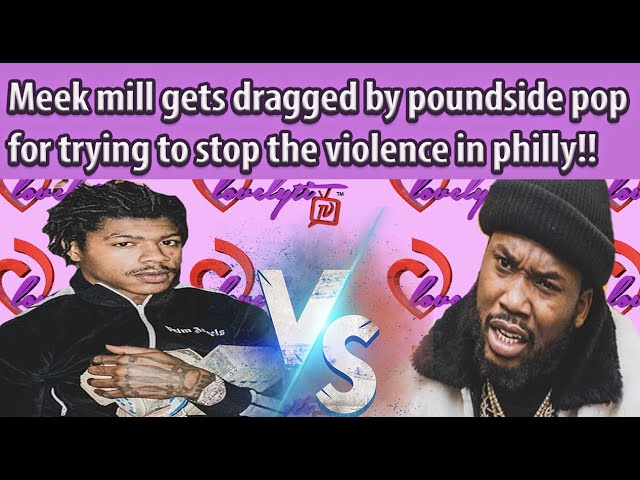 """Meek mill gets dragged & """"kicked out"""" of Philly for trying to stop the violence!~PICK A SIDE!"""