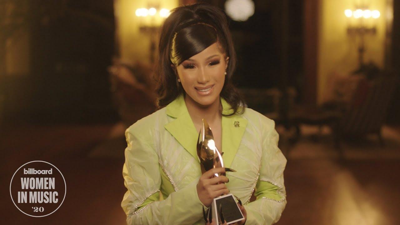 Cardi B Accepts Woman of the Year Award | Women In Music 2020