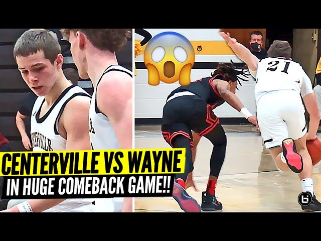 GABE CUPPS, RICH ROLF, TOM HOUSE, HUGE COMEBACK GAME! CENTERVILLE VS WAYNE WAS A DOG FIGHT!!