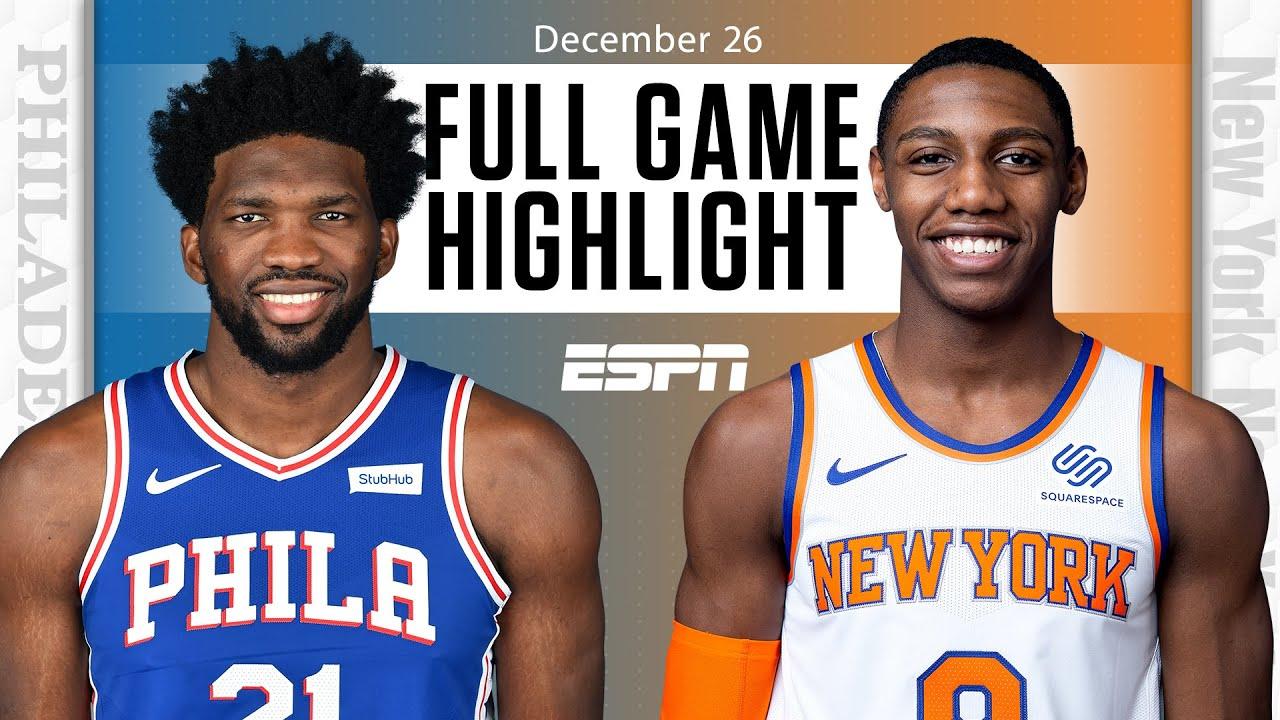 Philadelphia 76ers vs. New York Knicks [FULL GAME HIGHLIGHTS] | NBA on ESPN