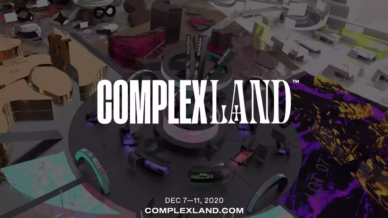 COMPLEXLAND: JOIN US FOR A SHOPPABLE VIRTUAL EVENT WITH EXCLUSIVE DROPS & PERFORMANCES