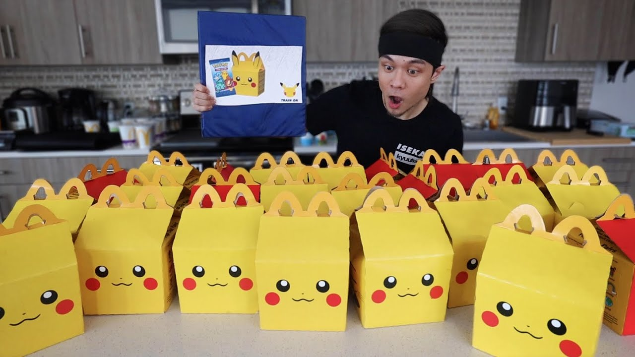 Eating McDonald's Happy Meals until I get EVERY POKEMON CARD!!