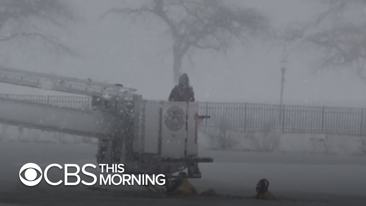 Northeastern states bombarded with massive snowstorm bringing strong winds, coastal flooding