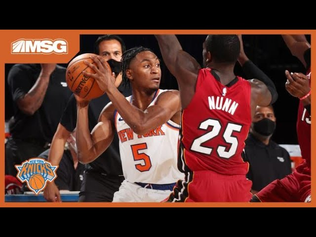 Quickley Tested vs. Heat, Knicks Drop Tight Game at The Garden