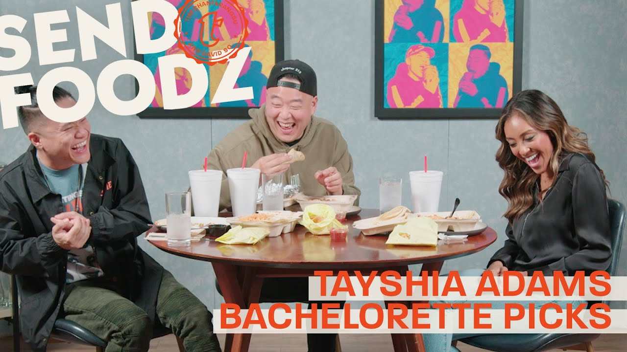 Tim and David Try Tayshia Adams's Favorite LA Spots | Send Foodz