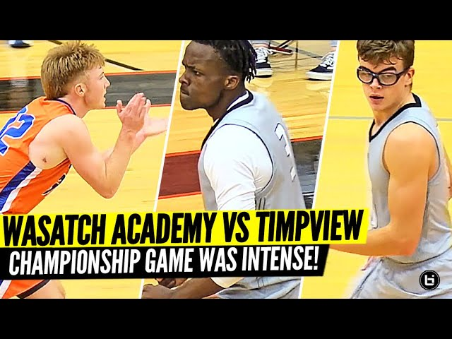 5 Star Point Guard Pop Isaac Jr TAKES OVER In Championship Game!! Wasatch Academy vs Timpview!