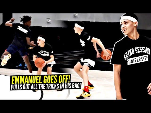 Emmanuel Maldonado Gets TRICKY & Goes CRAZY In 3v3 Games!! SMOOTH Handles & Game vs Kenny Dobbs!