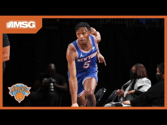 Immanuel Quickley Comes Off Bench And Secures Win For Knicks | New York Knicks