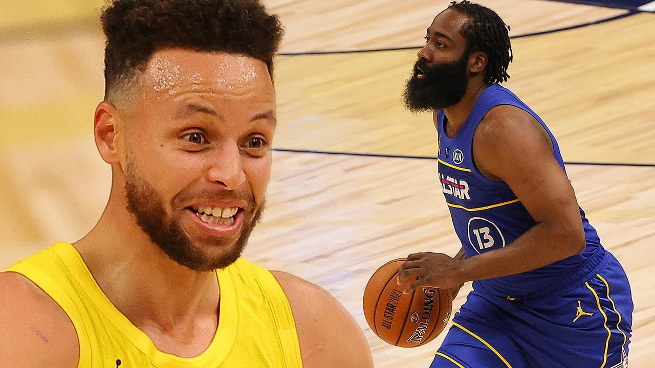 Steph Curry Trolls James Harden For Traveling On EVERY Possession During All-Star Game
