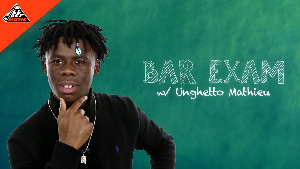 Unghetto Mathieu takes the 'Bar Exam' | All Def Music