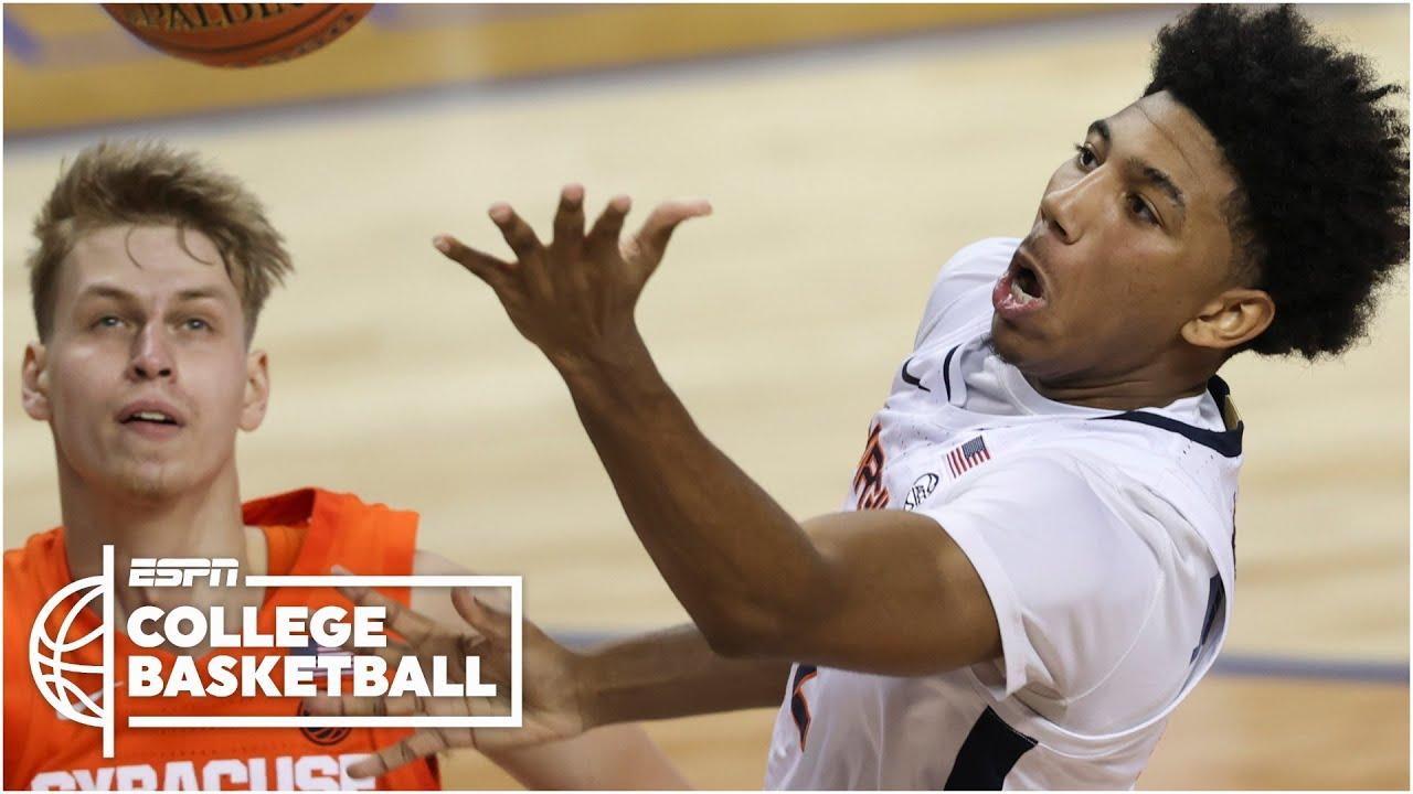 Virginia defeats Syracuse with dramatic buzzer beater [HIGHLIGHTS]   ESPN College Basketball