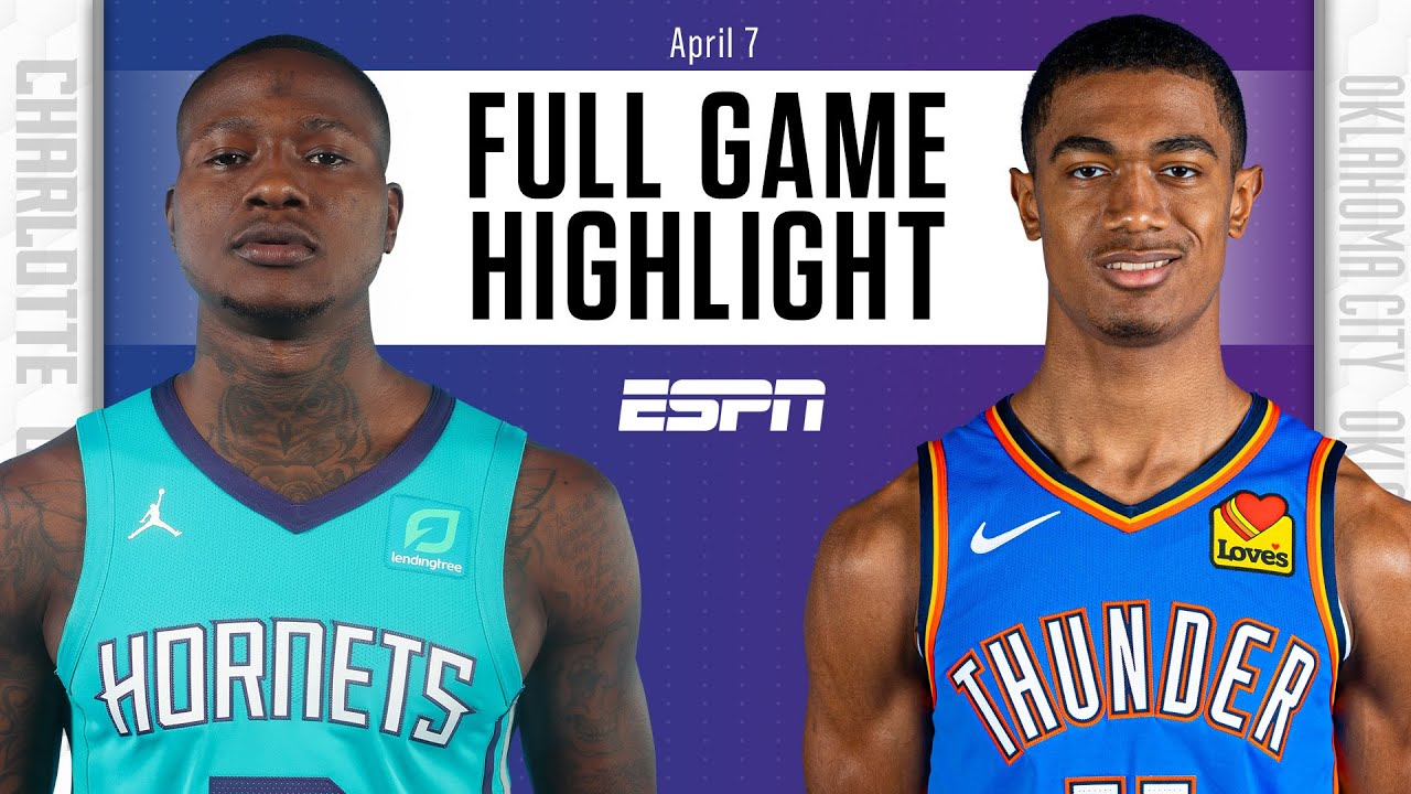 Charlotte Hornets at Oklahoma City Thunder | Full Game Highlights