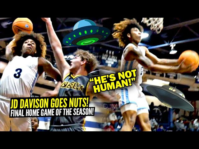 JD Davison Is NOT FROM THIS PLANET!! Goes NUTS In FINAL Home Game Of Season! Quadruple Double!?
