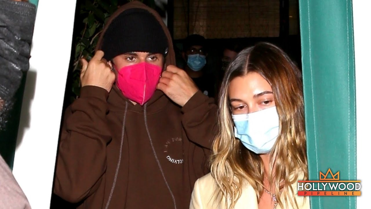 Justin Bieber and Hailey confronted by overzealous paparazzi after dinner at 'San Vicente Bungalows'