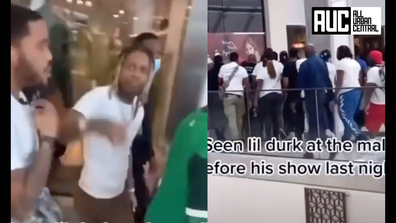 Lil Durk Moving Real Militant Pulls Up To Mall 1000 Deep