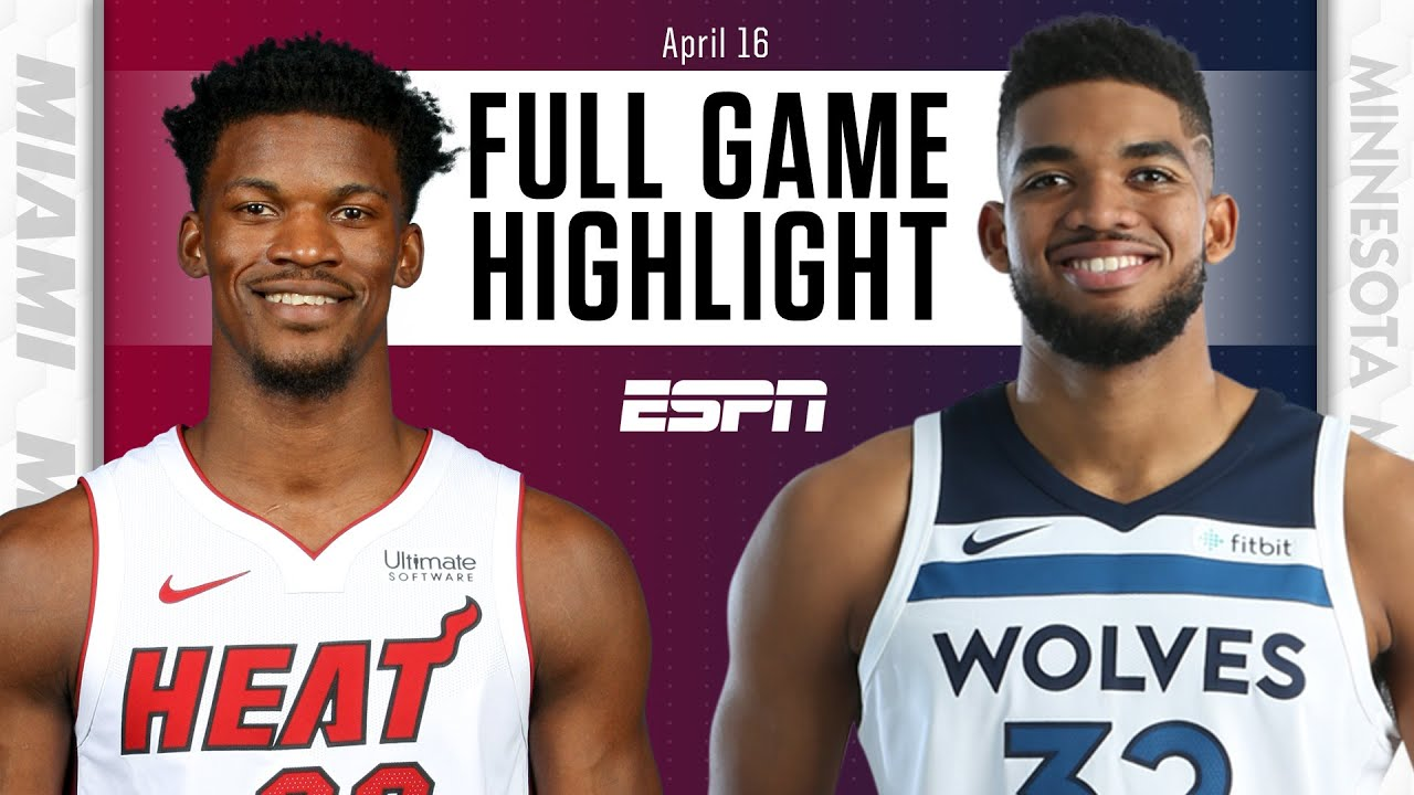 Miami Heat at Minnesota Timberwolves | Full Game Highlights