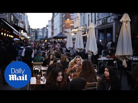 UK reopening: Old Compton St packed as bars reopen for the first time in months