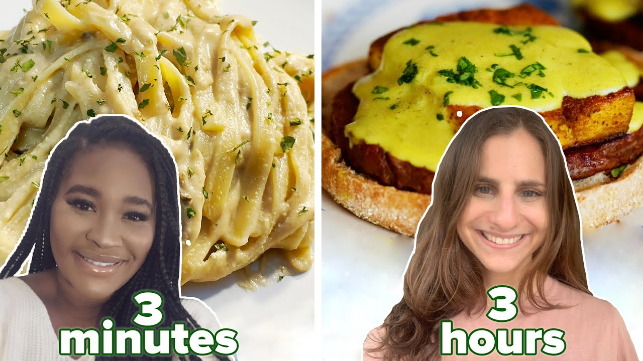 What 3 Vegans Eat In A Day • 3 Minutes Vs. 30 Minutes Vs. 3 Hours