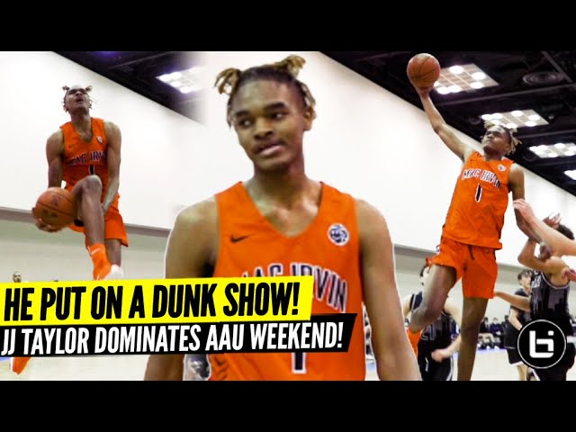 WINDMILL DUNKS! EASTBAY IN GAME?! CHICAGO's JJ Taylor DOMINATES 16U AAU at NY2LA!
