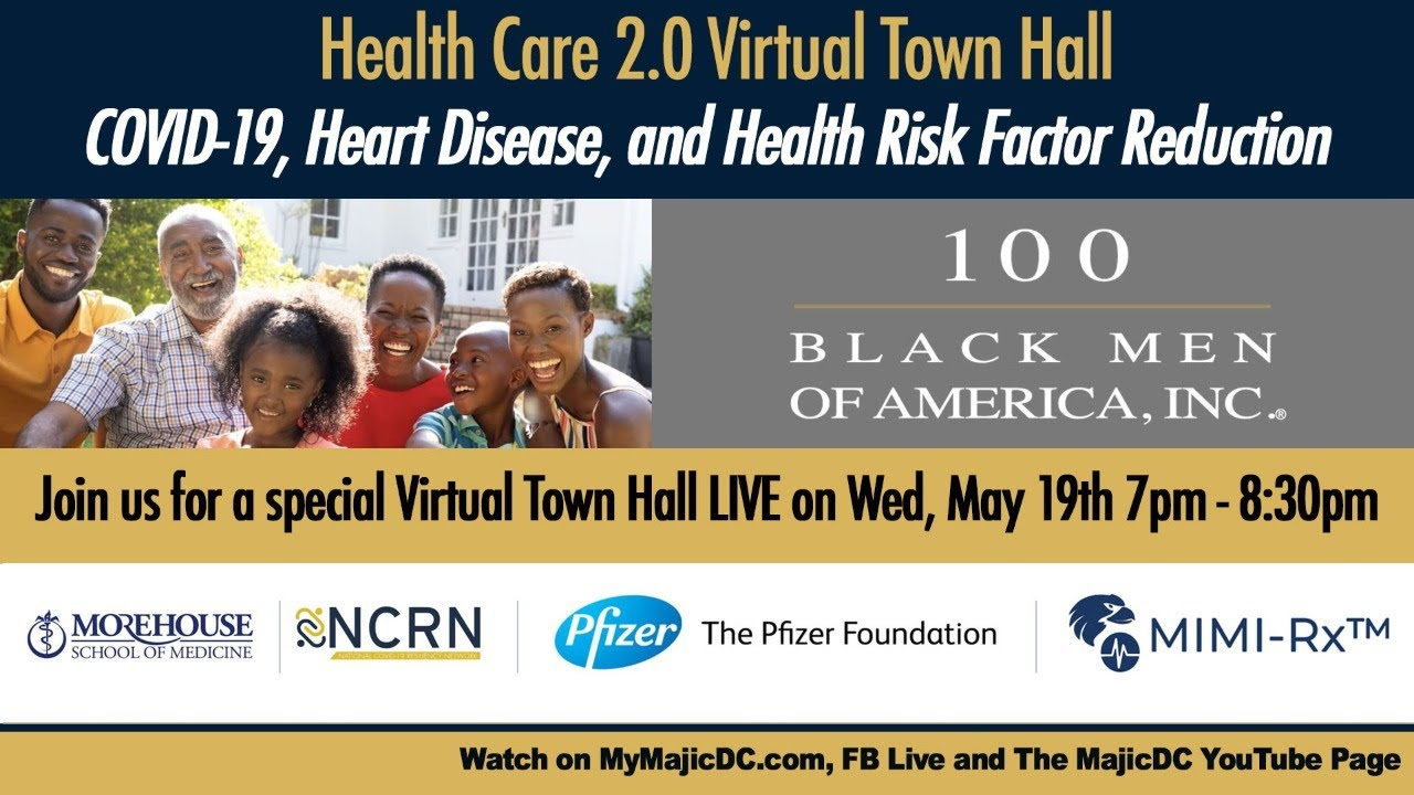 100 Black Men Virtual Town Hall LIVE Presented by Morehouse, MIMI-RX and Pfizer
