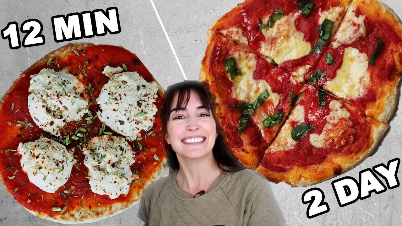 12 Min Vs. 2 Hour Vs. 2 Day Vegan Pizza