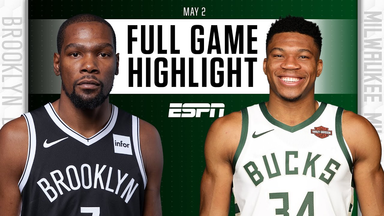 Brooklyn Nets at Milwaukee Bucks | Full Game Highlights
