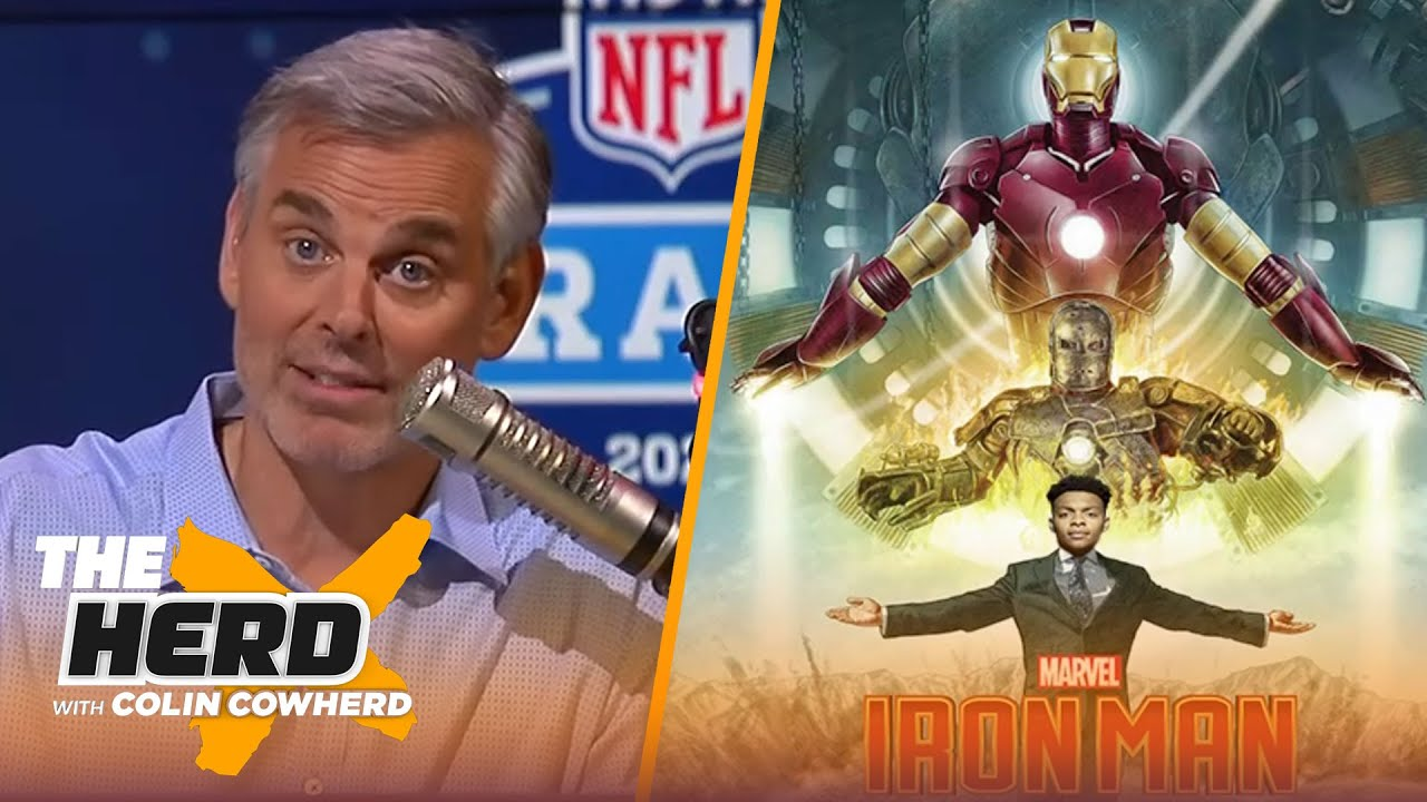 Colin Cowherd finds the perfect movie posters for the top QBs in the draft | NFL | THE HERD