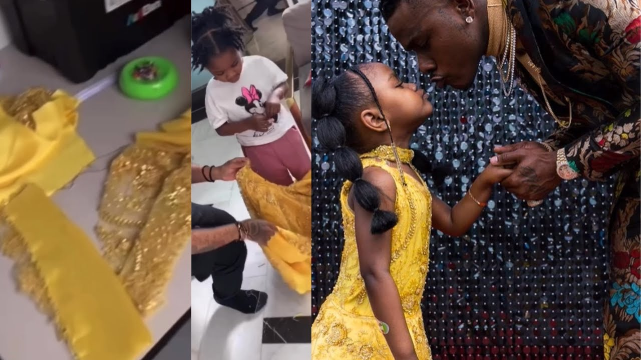 Da Baby Creates Adorable Grammy Awards Red Carpet & Hand-Made Dress for his Daughter