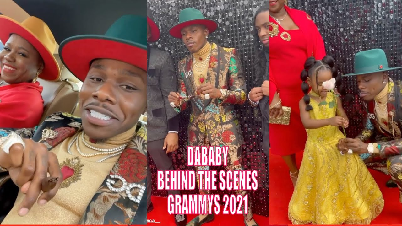 DABABY BEHIND THE SCENES AT THE GRAMMYS 2021
