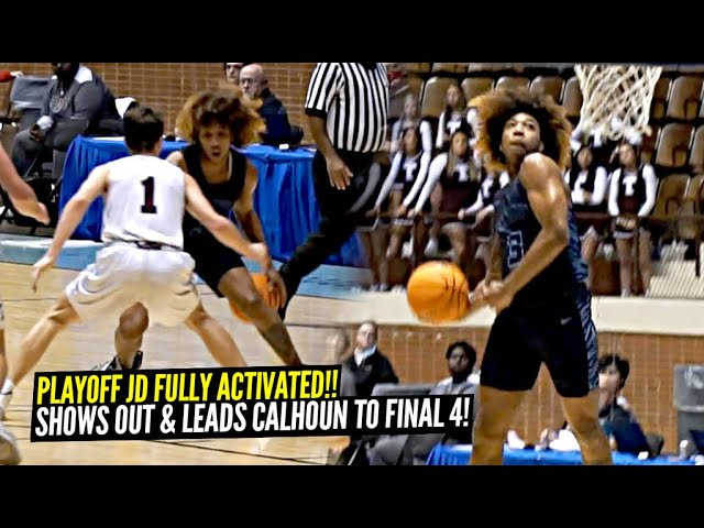 JD Davison Activates PLAYOFF MODE On The Road!! Leads Calhoun to FINAL FOUR!