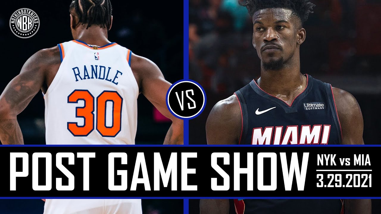 Knicks winning streak snapped! | New York Knicks vs Miami Heat Post Game Show | 3.29.21