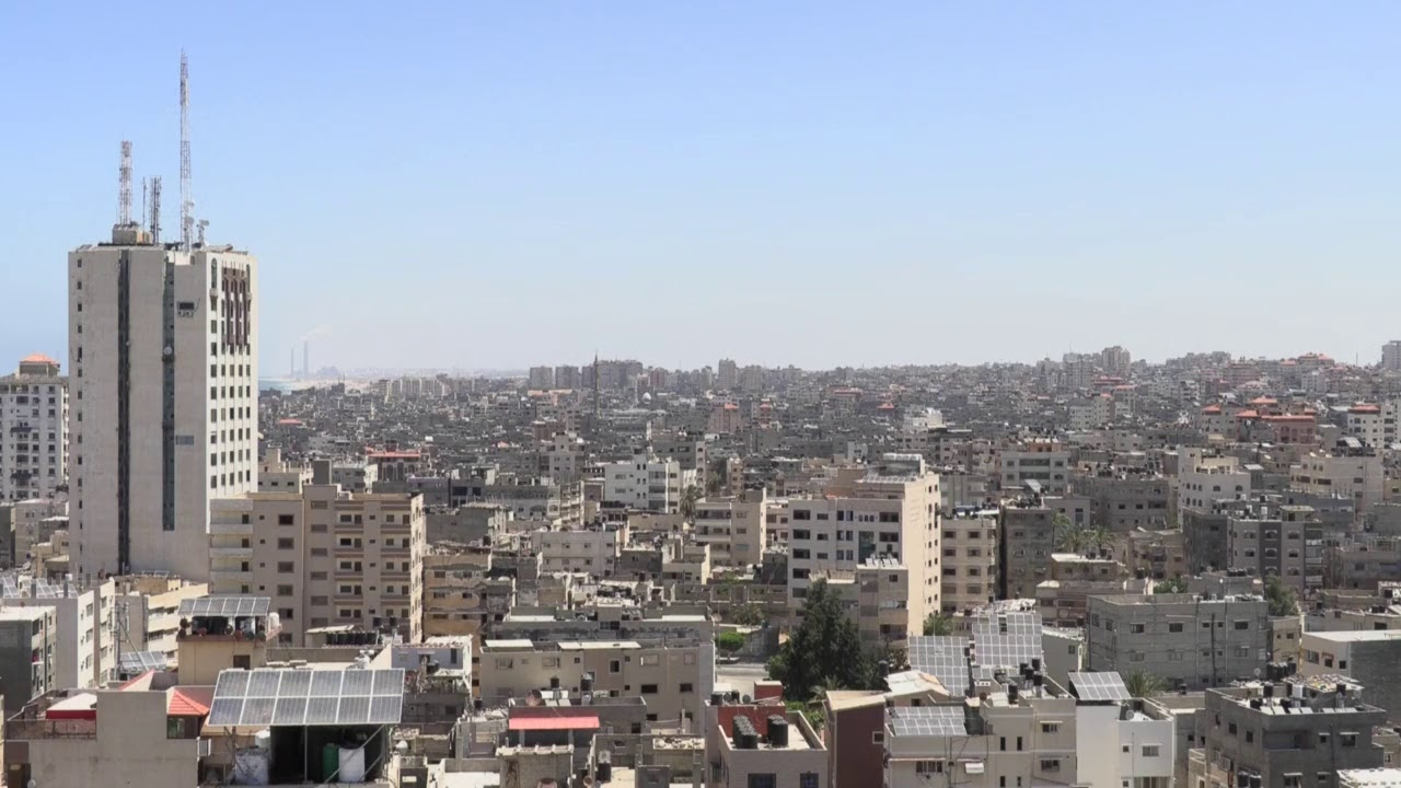 Live shot from Gaza City as Israeli-Palestinian conflict escalates