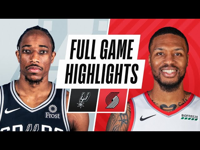 SPURS at TRAIL BLAZERS   FULL GAME HIGHLIGHTS   May 8, 2021