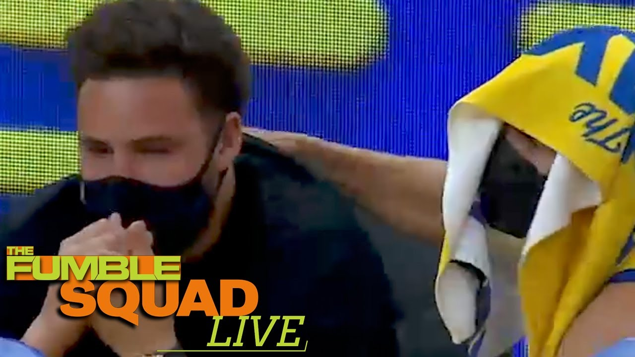 Steph Curry Comforts Klay Thompson As It Seems He's CRYING On The Warriors Bench