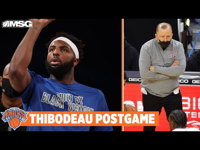 Thibs Provides Mitchell Robinson Injury Update After Loss to 76ers | New York Knicks