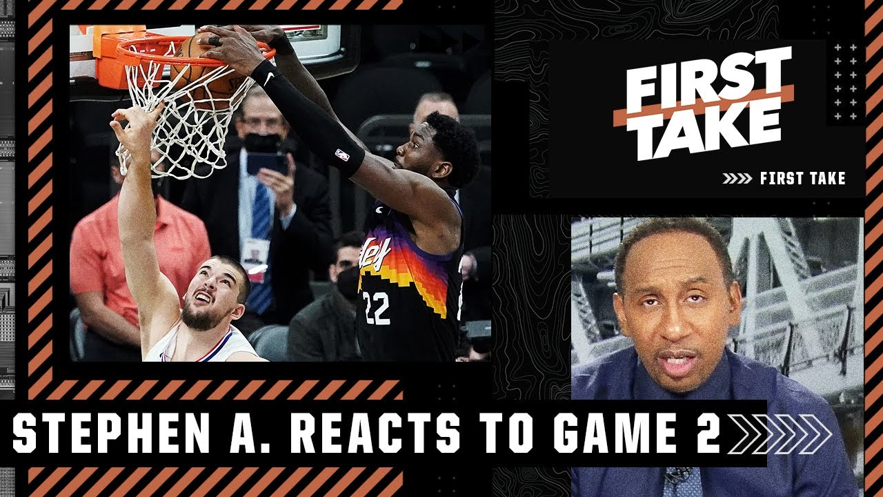 Deandre Ayton is 'flat-out ballin' for the Suns - Stephen A. reacts to Game 2 | First Take