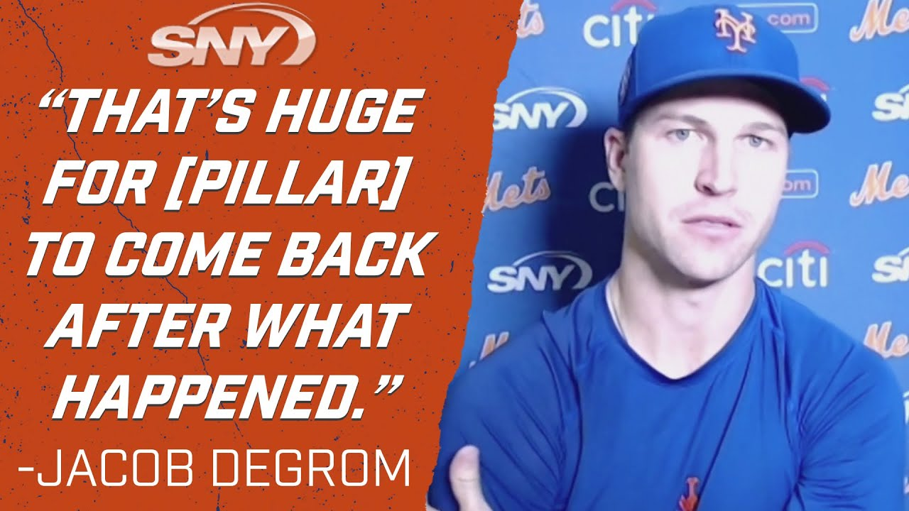 Jacob deGrom, Pete Alonso had high praise after Kevin Pillar's return | Mets | SNY
