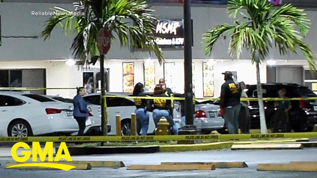 Police search for gunmen after Miami mass shooting kills 2, injures at least 20